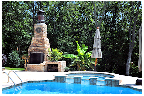 AllStar Pools, Inc Outdoor Fireplace